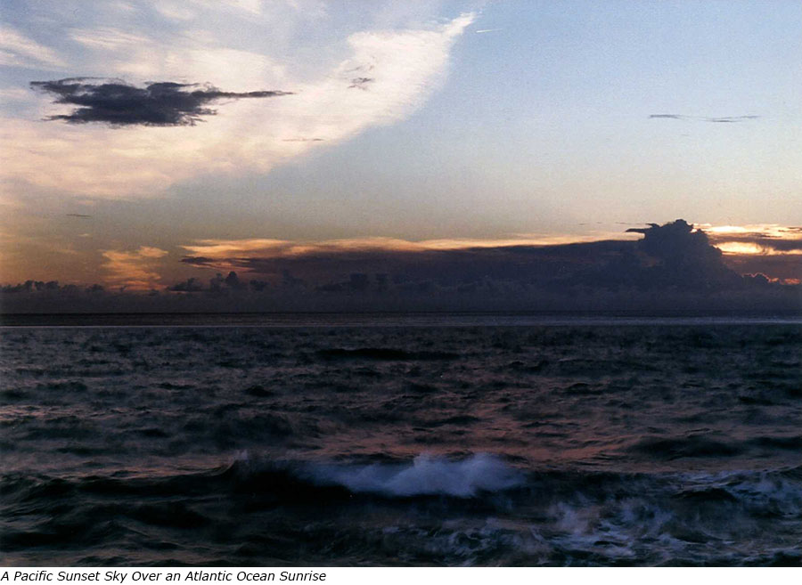 A Pacific Sunset Sky over an Atlantic Ocean Sunrise with title.jpg