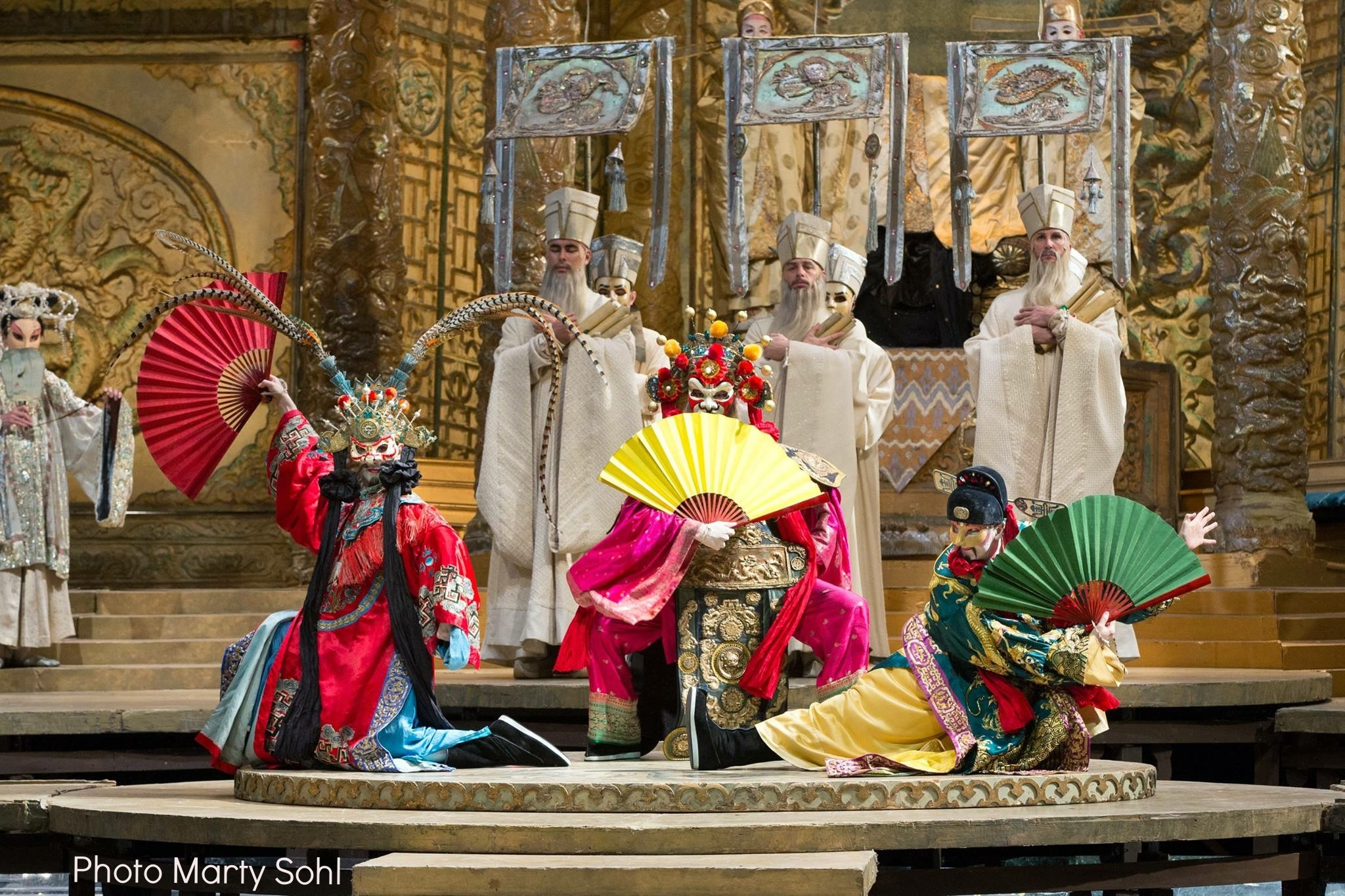 Turandot masked Ping, Amir Levy, masked Pang, Elliot Reiland, masked Pong, Andrew Robinson with Chorus Sapienti  Brandon Mayberry,   Edward Hanlon ,  Seth Malkin