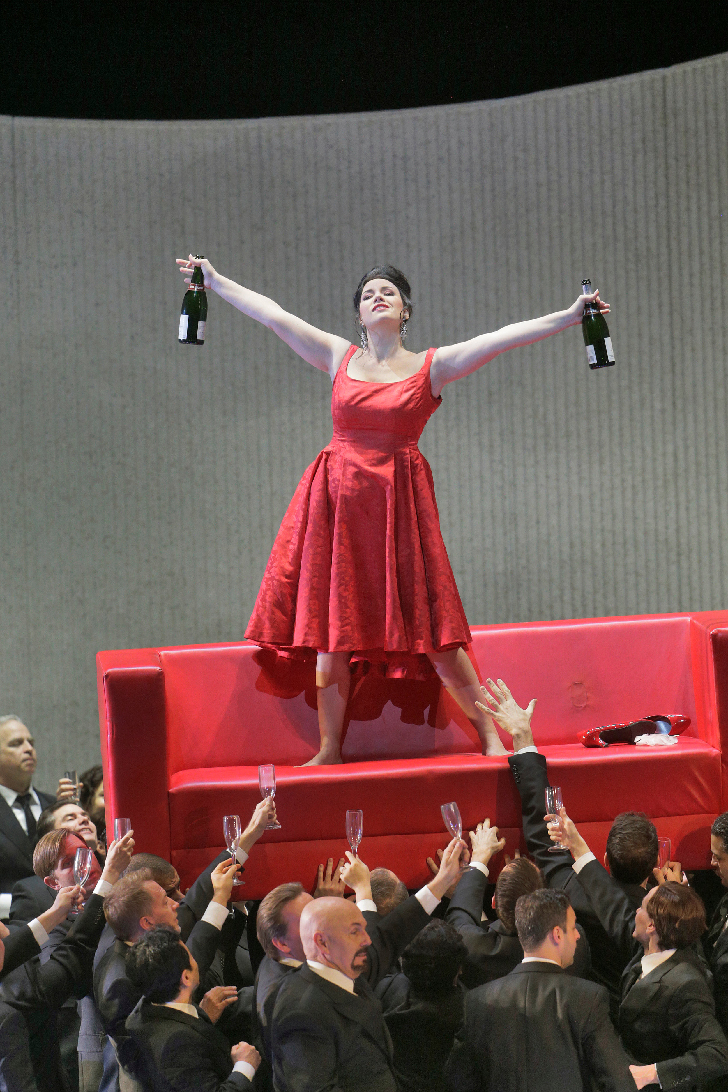 Sonya Yoncheva as Violetta in Verdi's La Traviata. Photos by Ken Howard/ Metropolitan Opera.