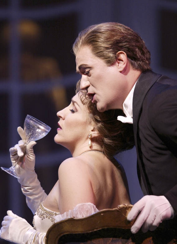 """Emily Pulley as Valencienne and Paul Groves as Camille in Lehar's """"The Merry Widow."""" Photo: Ken Howard/ Metropolitan Opera"""
