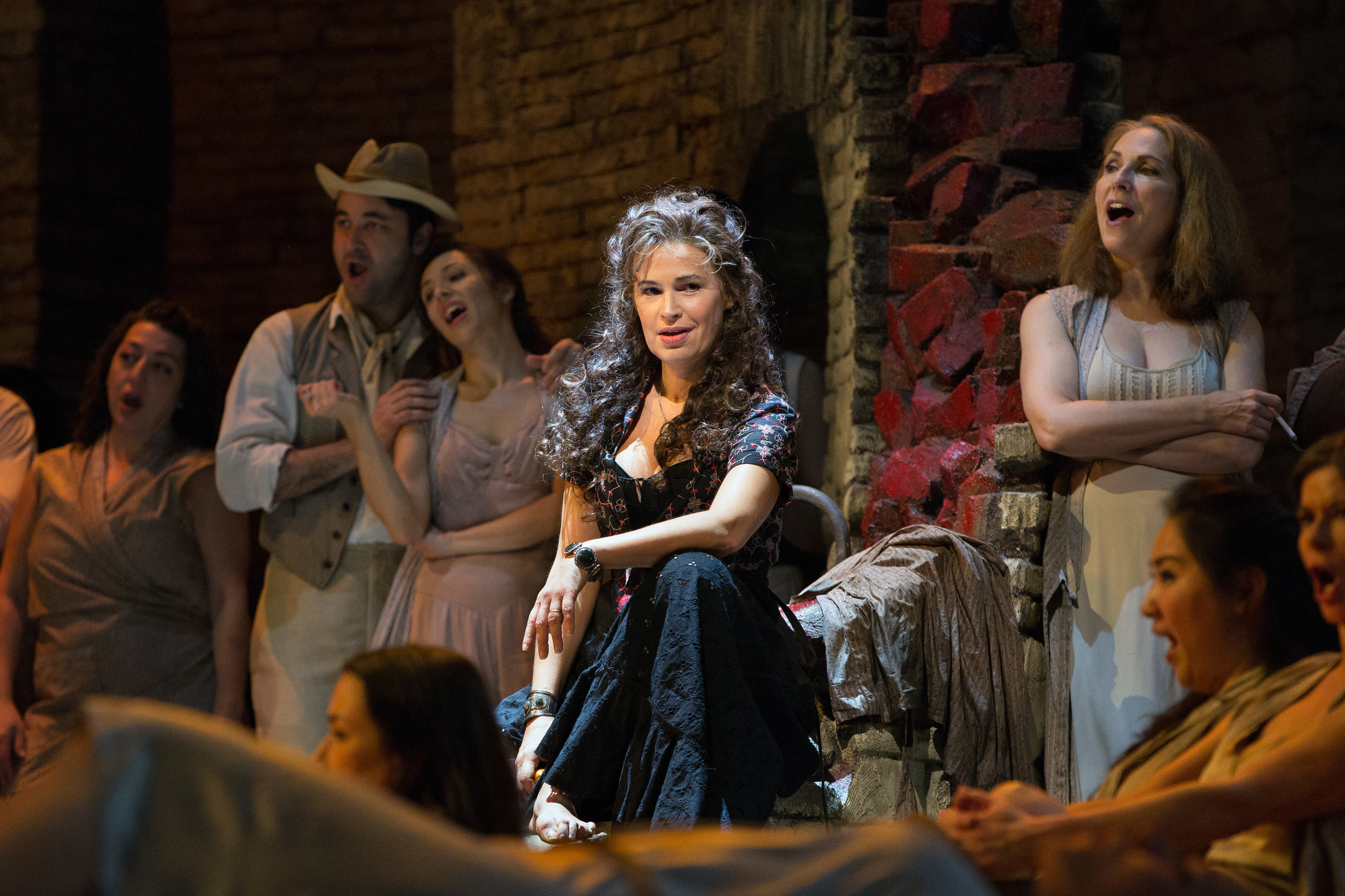 Sophie Koch in the title role of Bizet's   Carmen  . Photo by Marty Sohl/Metropolitan Opera.