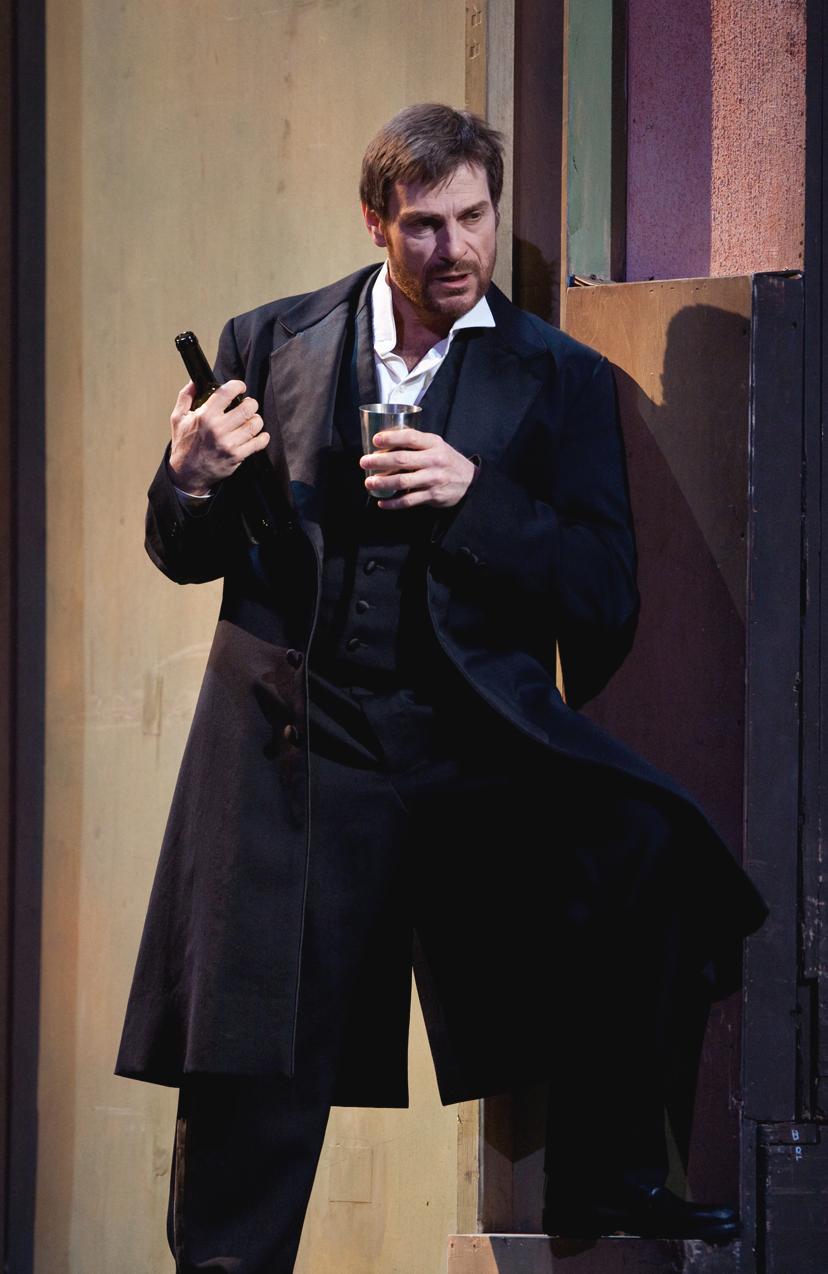 "Simon Keenlyside in the title role of Thomas' ""Hamlet."" Photo: Marty Sohl/Metropolitan Opera."