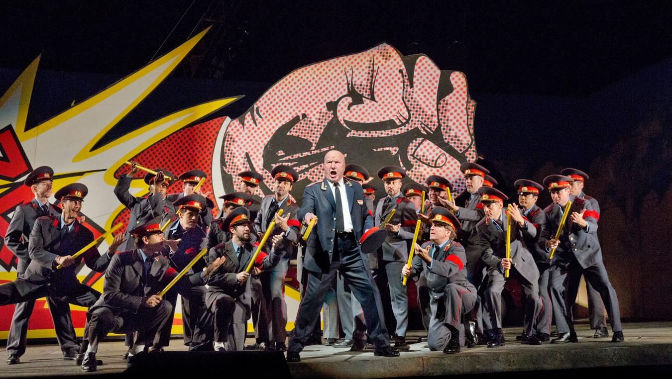 Vladimir Ognovenko as the Chief of Police in Shostakovich's  Lady Macbeth of Mtsensk . Photo: Ken Howard/Metropolitan Opera.