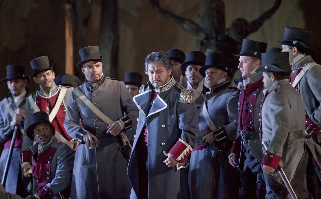 "A scene from Verdi's ""Il trovatore"". Photo: Ken Howard/Metropolitan Opera"
