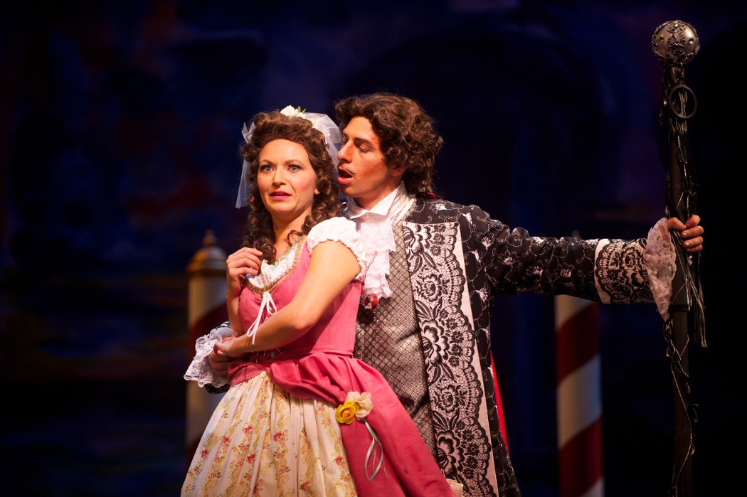 Bass Edward Hanlon (yours truly) and wife, soprano Tanya Roberts, in The Gondoliers at The Ohio Light Opera. Photo my Matt Dilyard