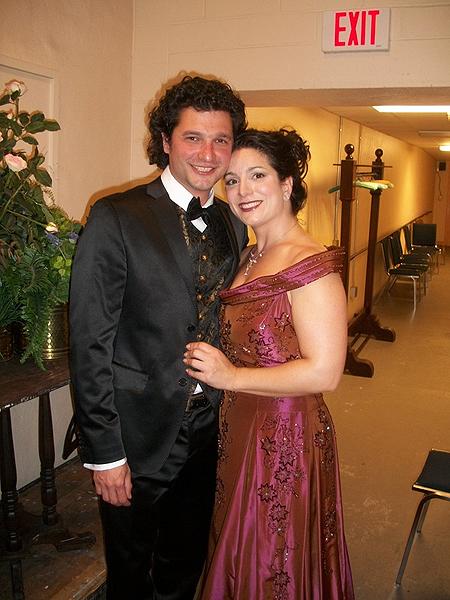 Soprano Maria D'Amato and husband, baritone  Dimitrie Lazich.