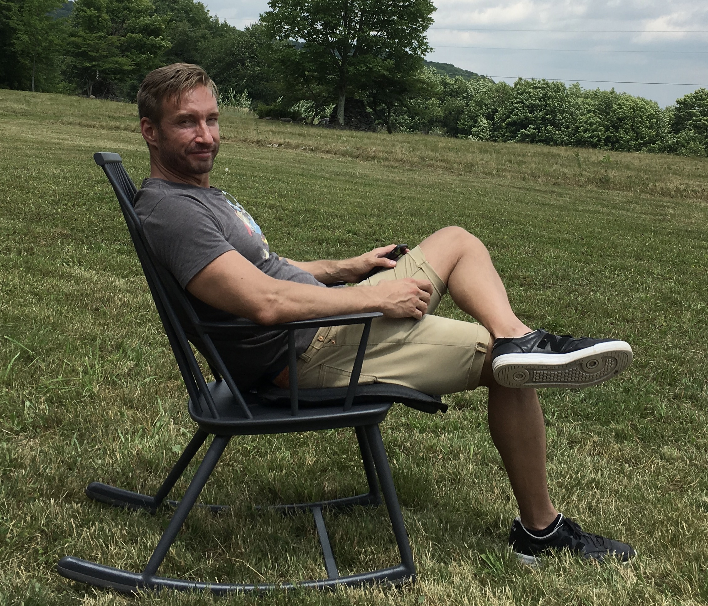 Chris Schaldenbrand, looking particularly relaxed in this photo.
