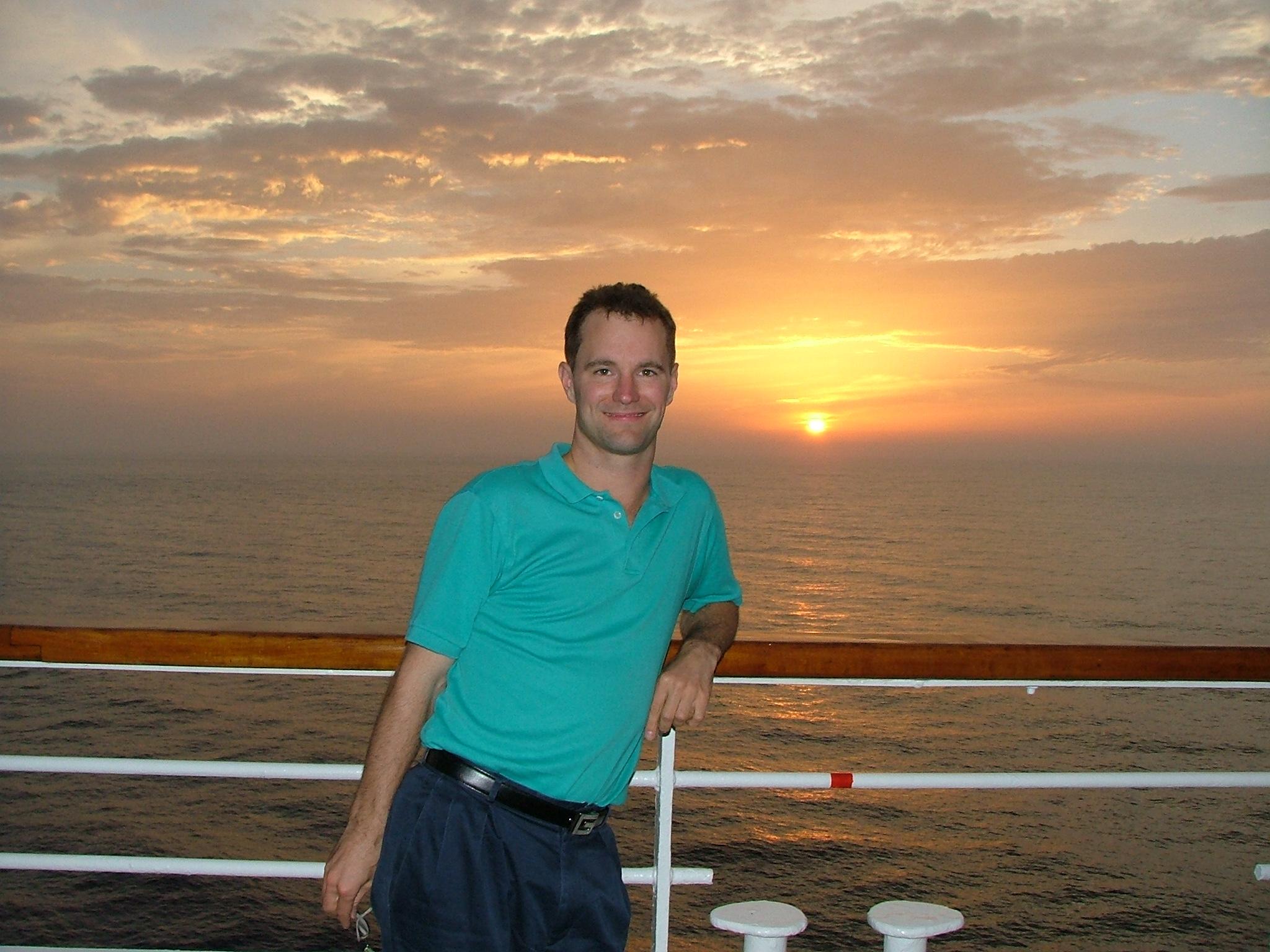 Mike's Mediterranean sunset.