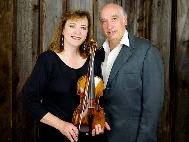 Roger Andrews with his wife, violinist Marilyn Reynolds.