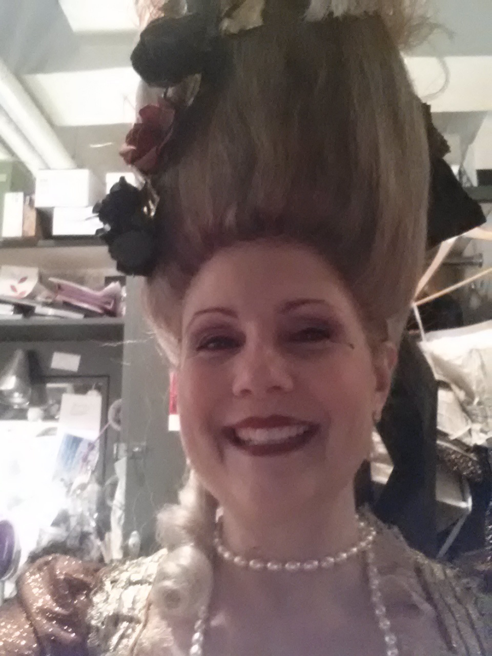 Laura and her mile-high hair in Les Contes d'Hoffmann!