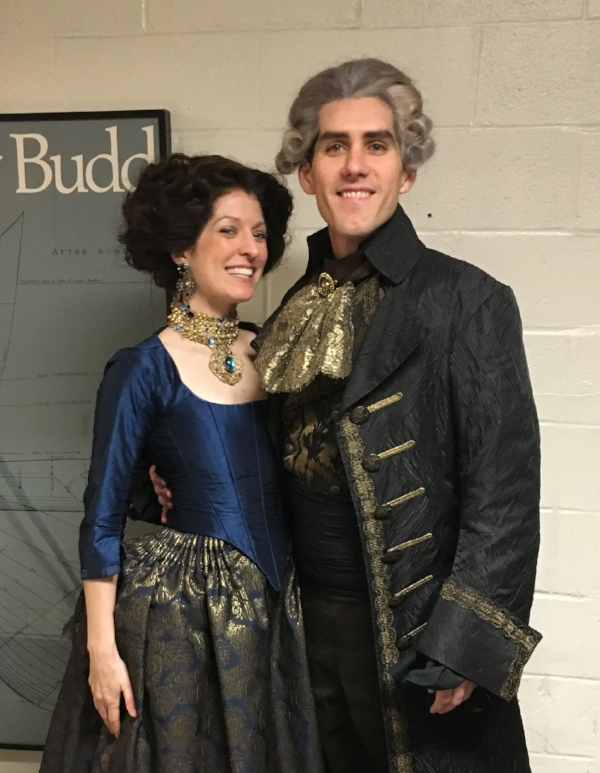 Lianne & Scott showing off their glamorous Romeo & Juliette costumes.