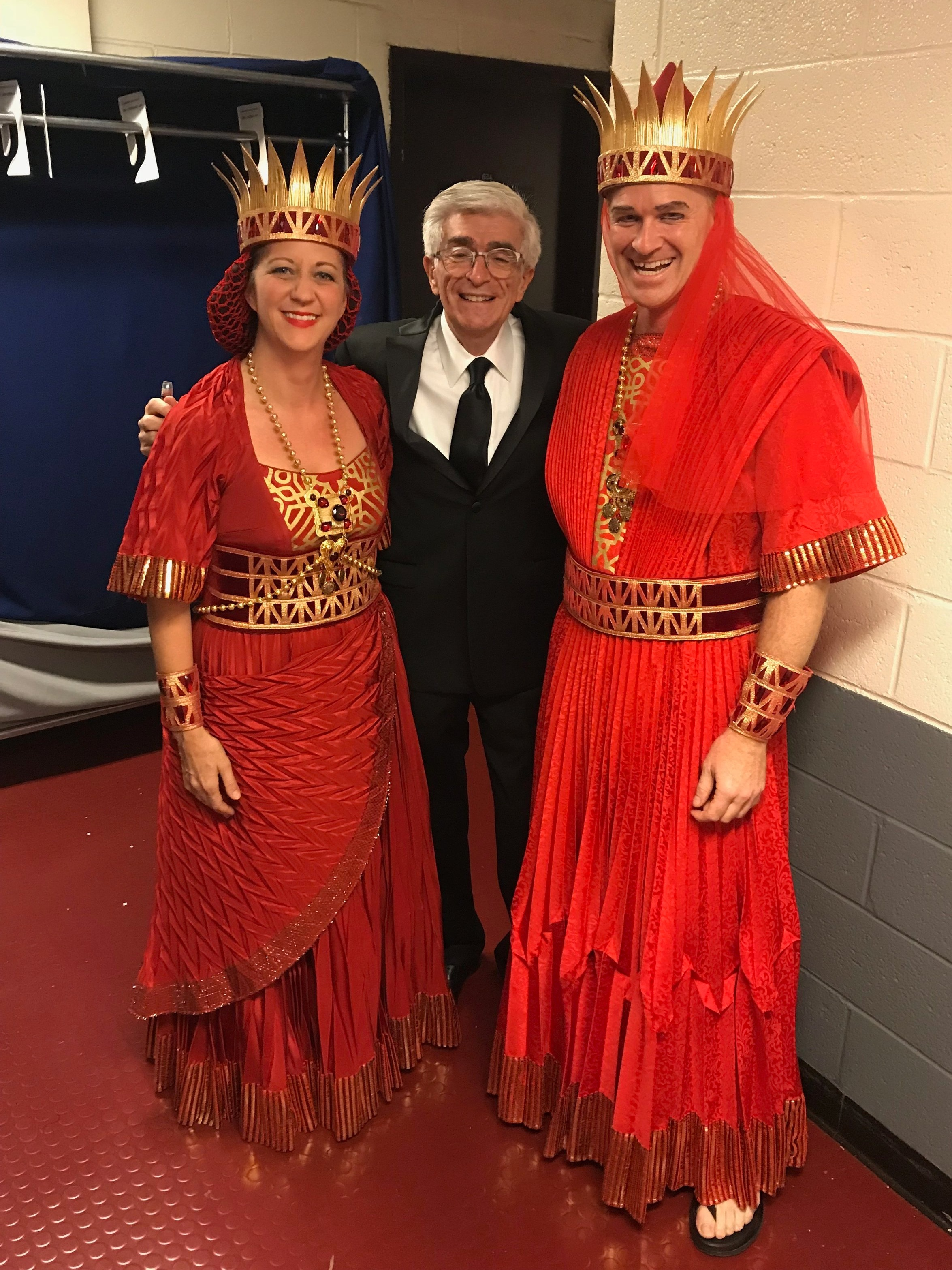 Christina, Maestro Palumbo, and Brian, on the opening night of Samson et Dalilah, which was Brian's first opening production as a full-timer!