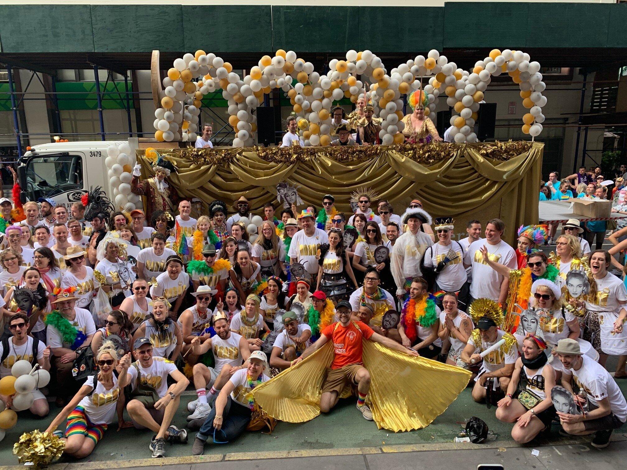 The whole Met Pride fam-damily! (Photo: Jonathan Tichler)