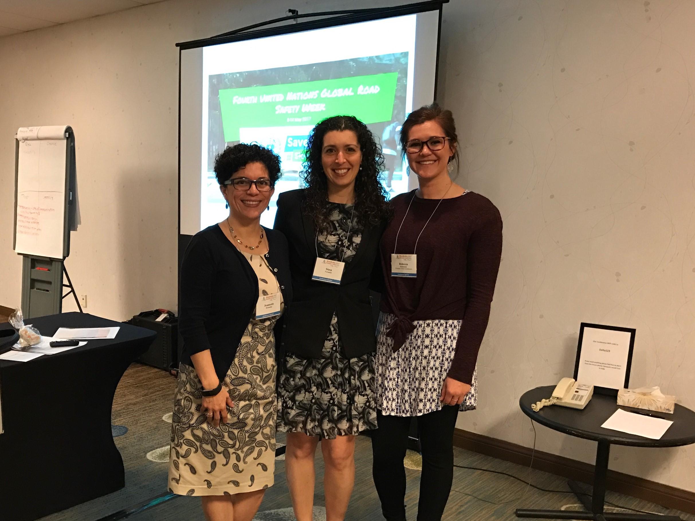 From left: Dr. Jeannette Montufar, Dr. Stasa Veroukis, Rebecca Peterniak