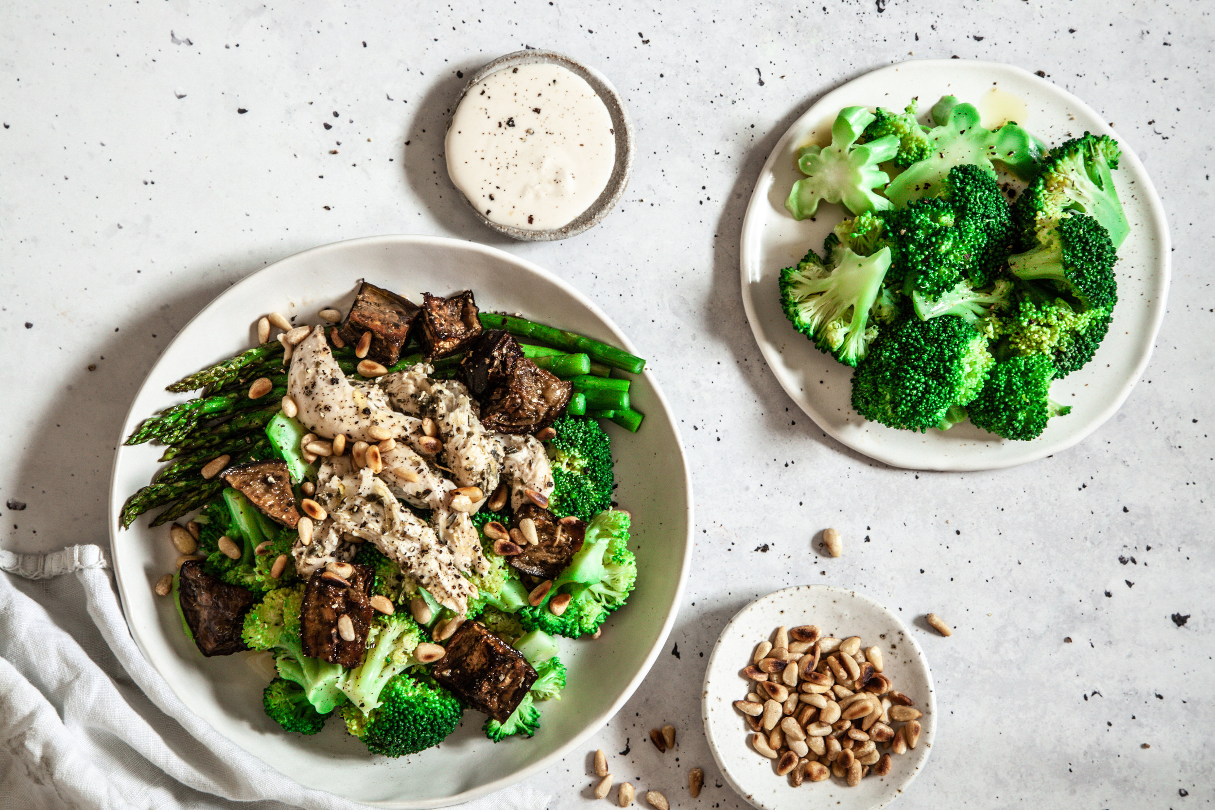 Herby chicken and eggplant bowl from Made