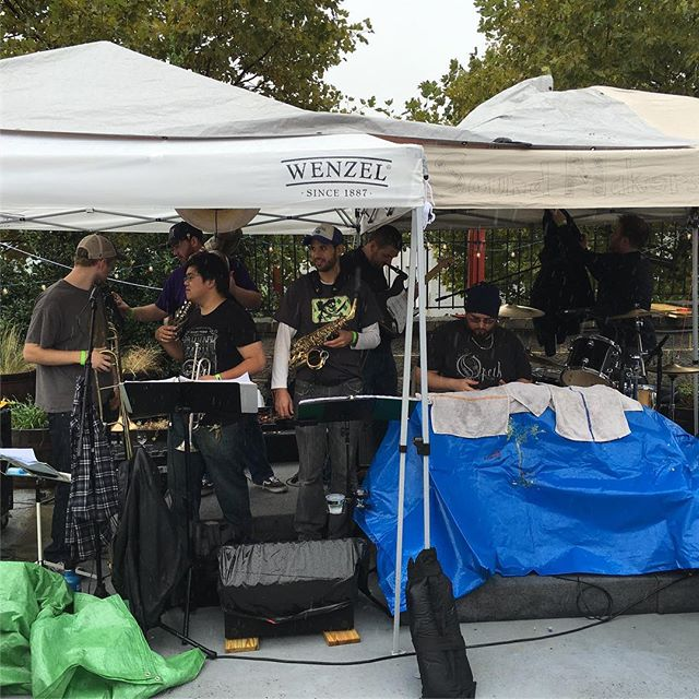 Rain won't stop the funk! #makeitfunky2016 #denizensbrewingco #soundmakersunion