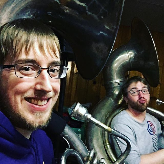 Happy international tuba day from these two goof balls! #tuba