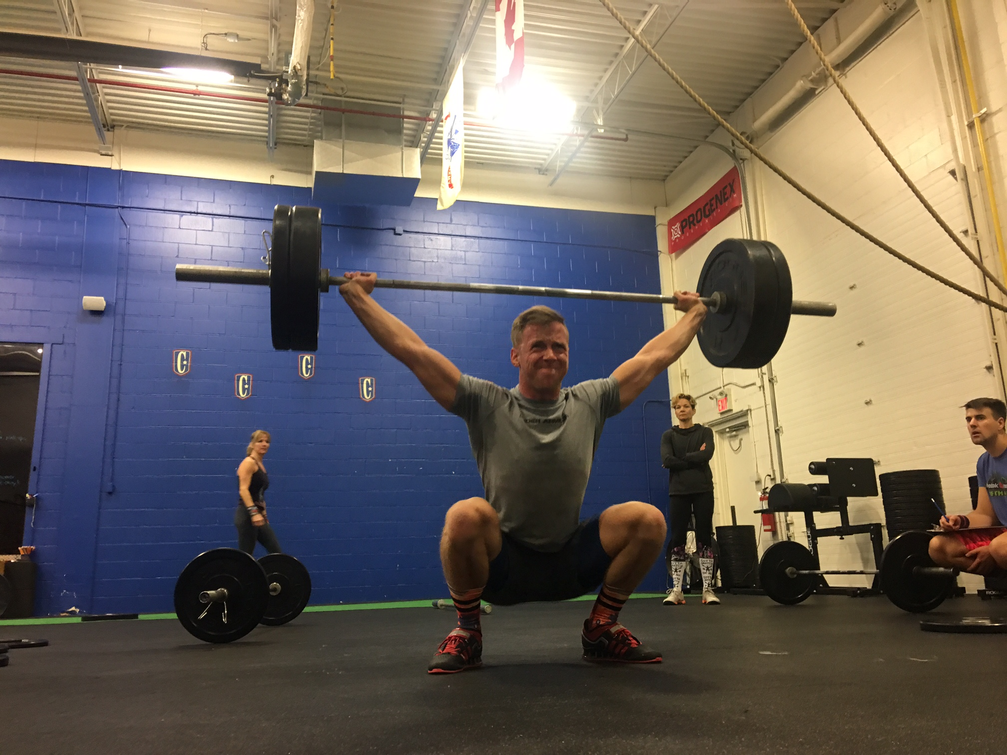 Swod    Bench Press  5x5     Metcon:      4 RFT   15 HSPU   60 Double Unders   400 Meter Row  * Post times to comments