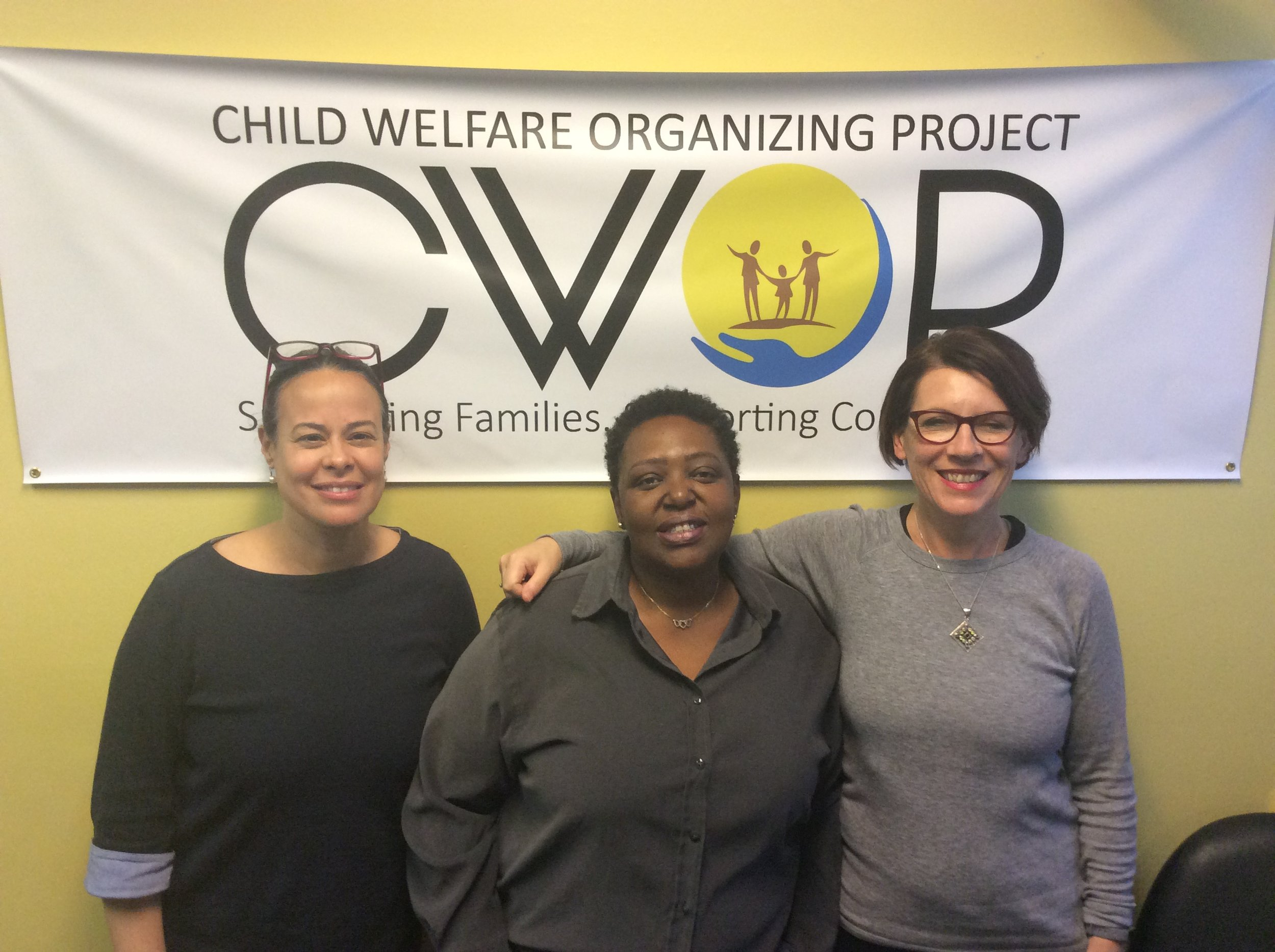 Eva Joyce and me at the Child Welfare Organizing Project (CWOP) in East Harlem. CWOP is a parent led organisation. It has been around for more than 20 years and has been instrumental in bringing about change over time.