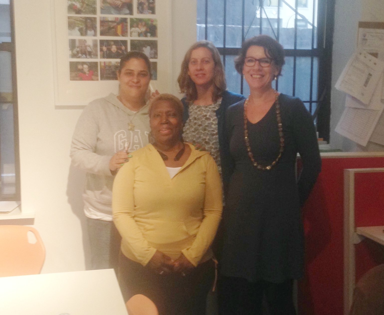 Jeanette, Robbyne, Nora and me at Rise Magazine. This organisation was developed not long after the CWOP and they have a long history of amplifying parent's stories and voices to bring about change.