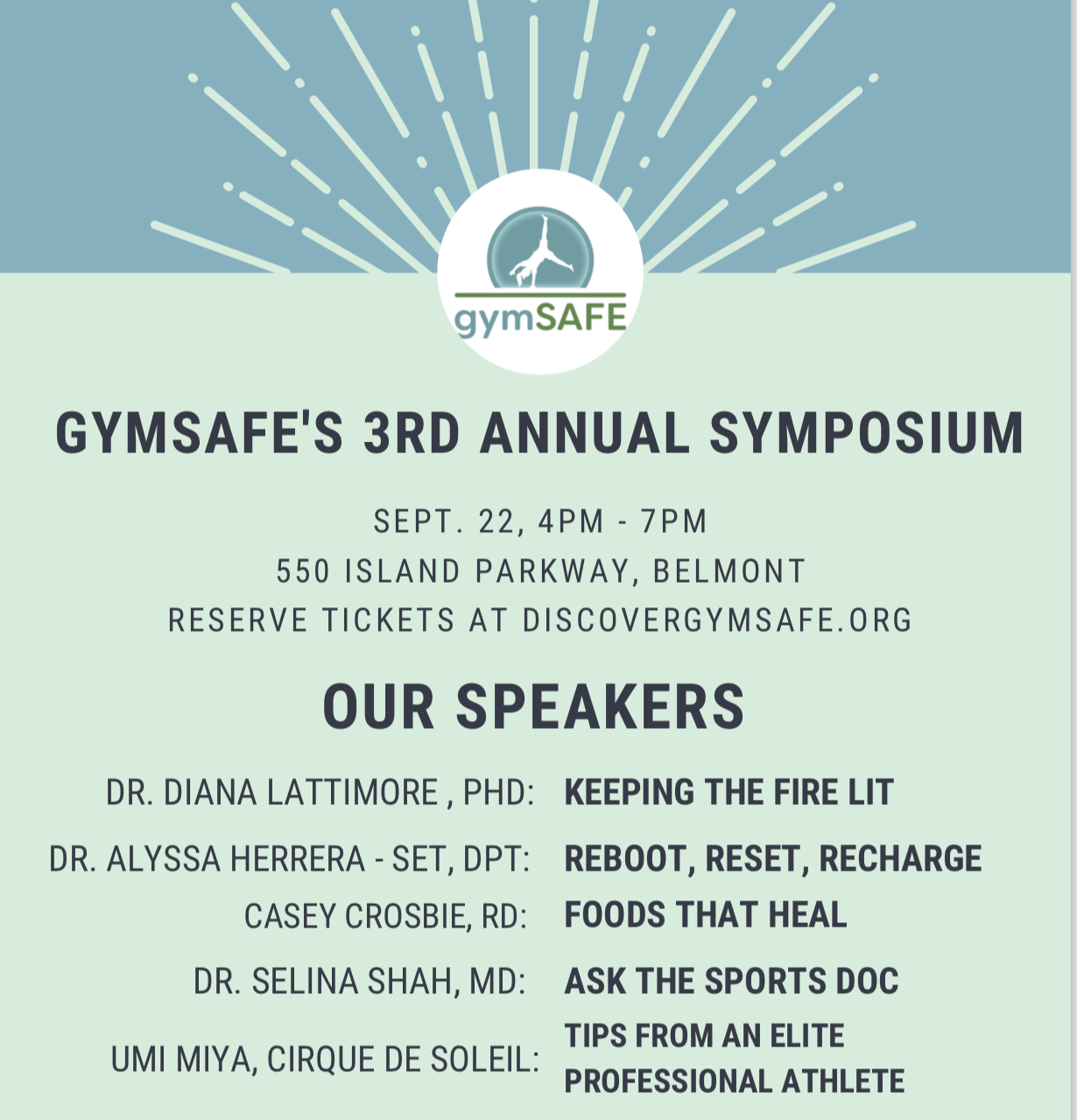 healthy gymnast symposium flyer