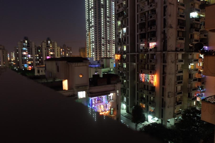 Diwali lights from Maasi's flat