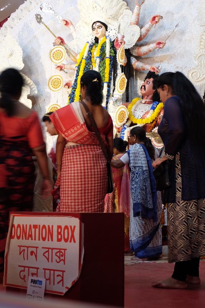 Giving my monetary offering to Durga Ma via my favorite app - Paytm