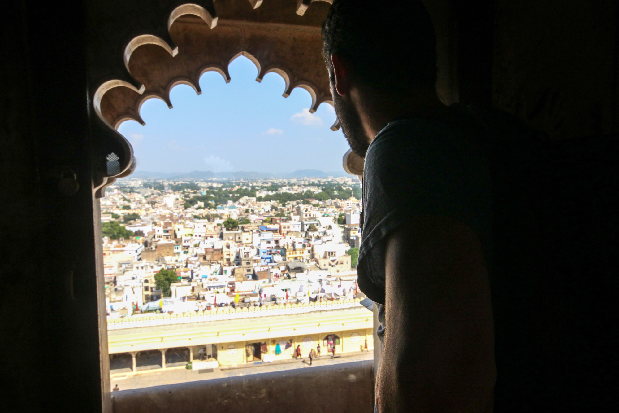 Jorge checking out the city from City Palace
