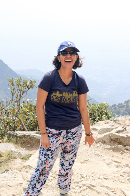 Repping Des Moines and LA during the trek from Dharamkot to Triund