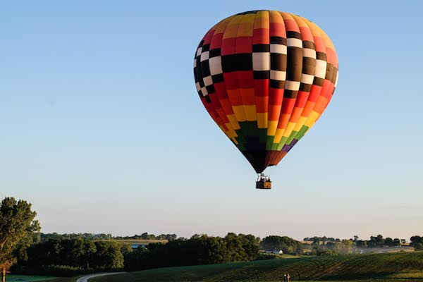 Catching the sunrise edition of the National Balloon Classic in Iowa.