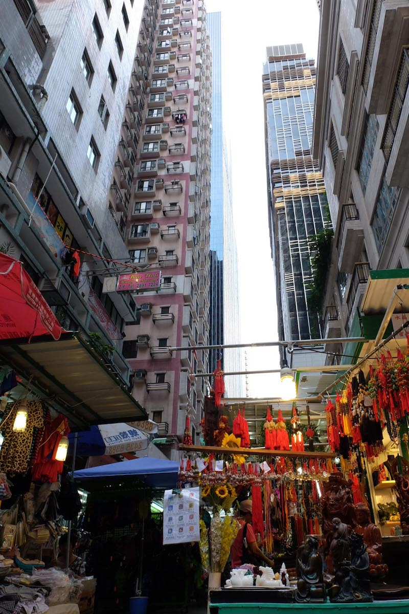 Constantly looking up in Hong Kong.