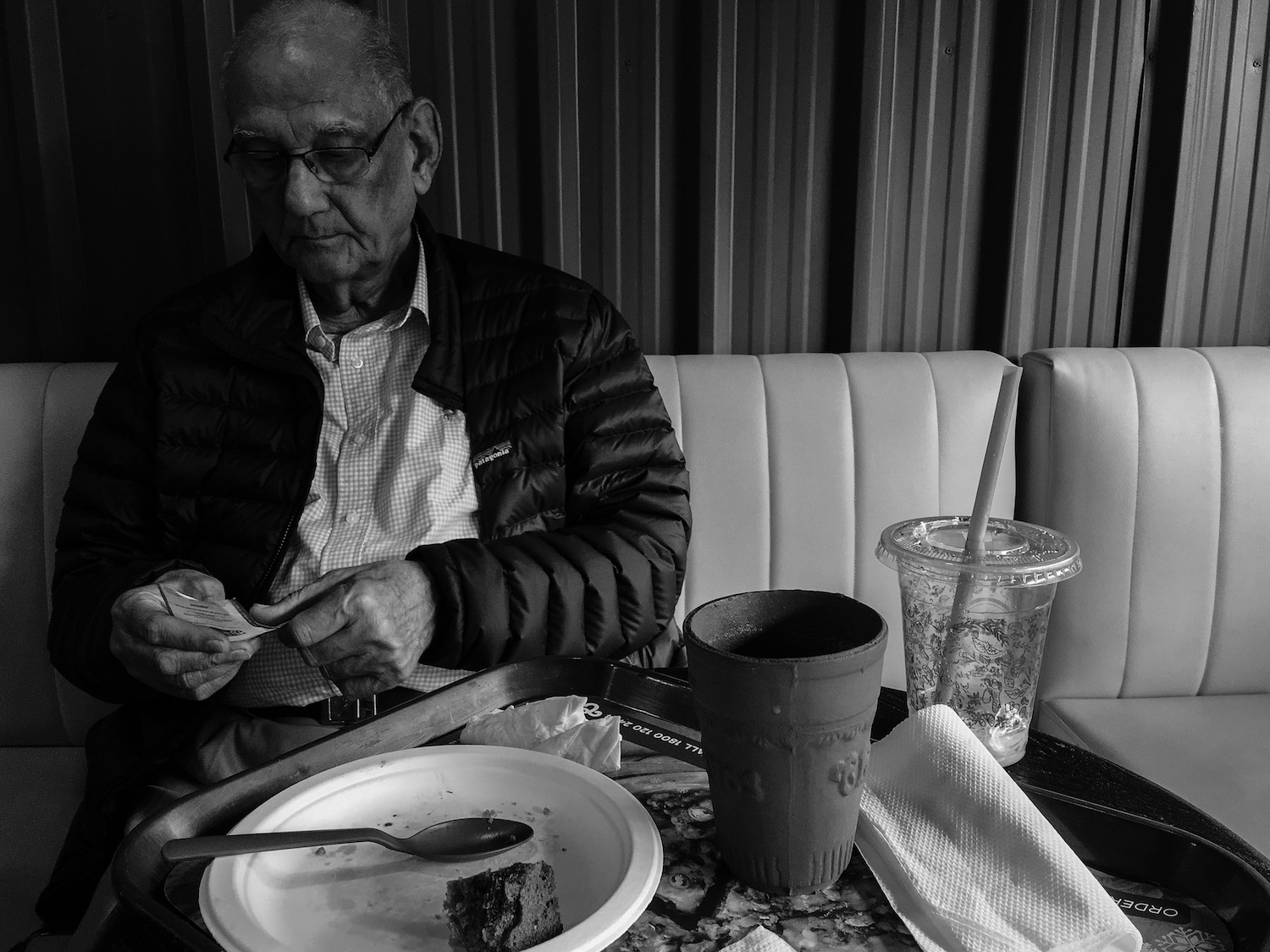 Dad looking stylish during a chai break in Chaayos