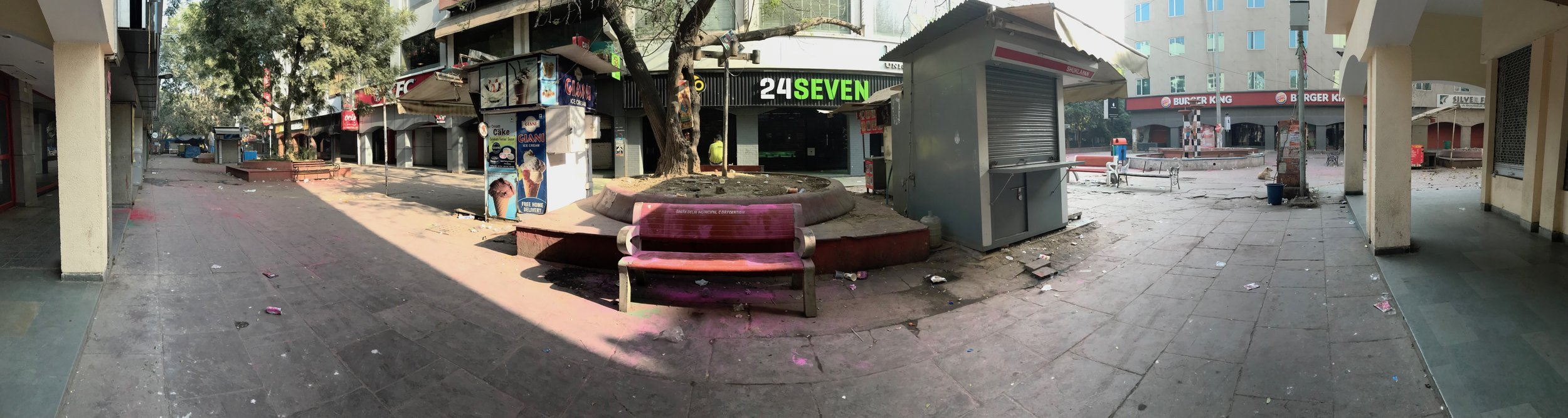 Scenes from an incredibly empty market during Holi 2018
