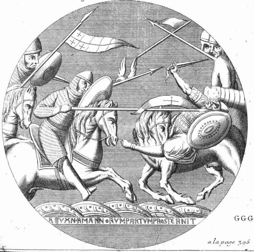 Robert of Normandy hurls over a Saracen at Ascalon