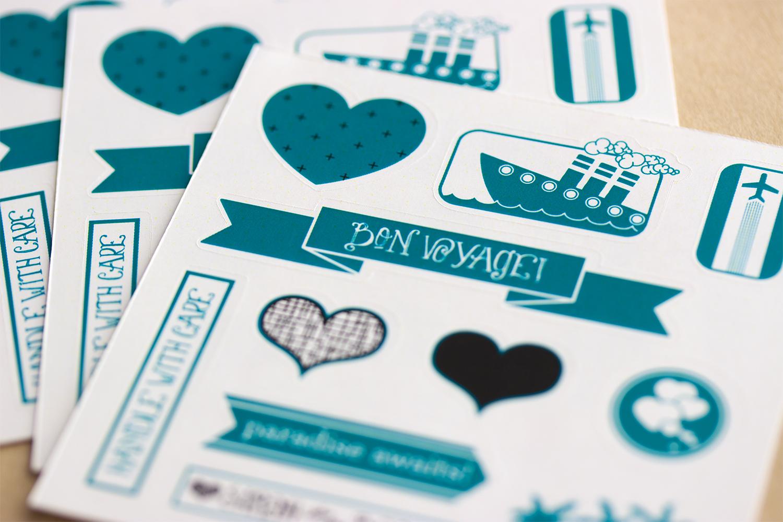 Place Card Stickers – Sarah & BJ