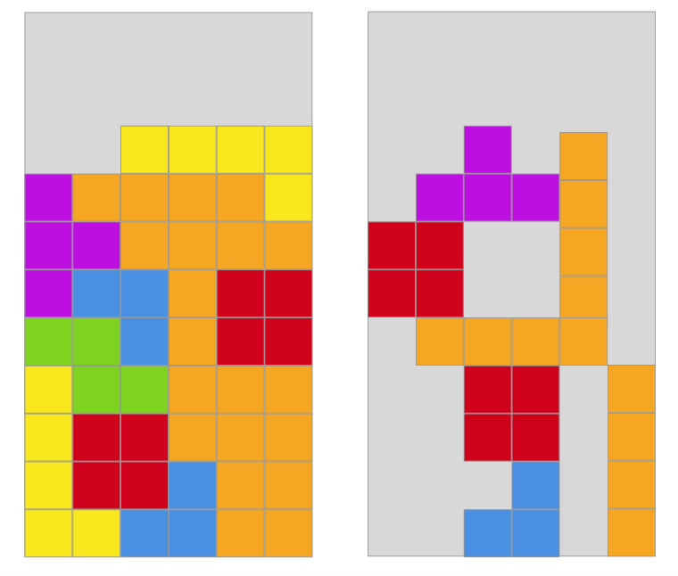 Planning with Tetris accuracy does not allow for variation