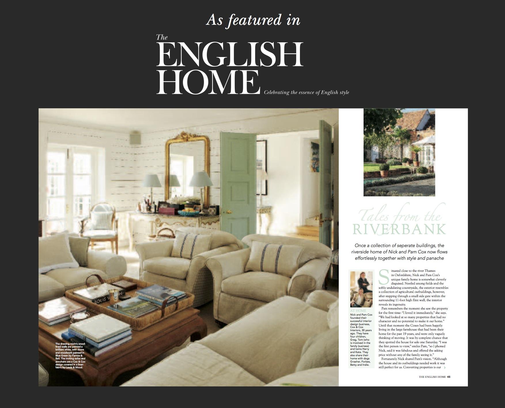English Home Featuring Ham Interiors