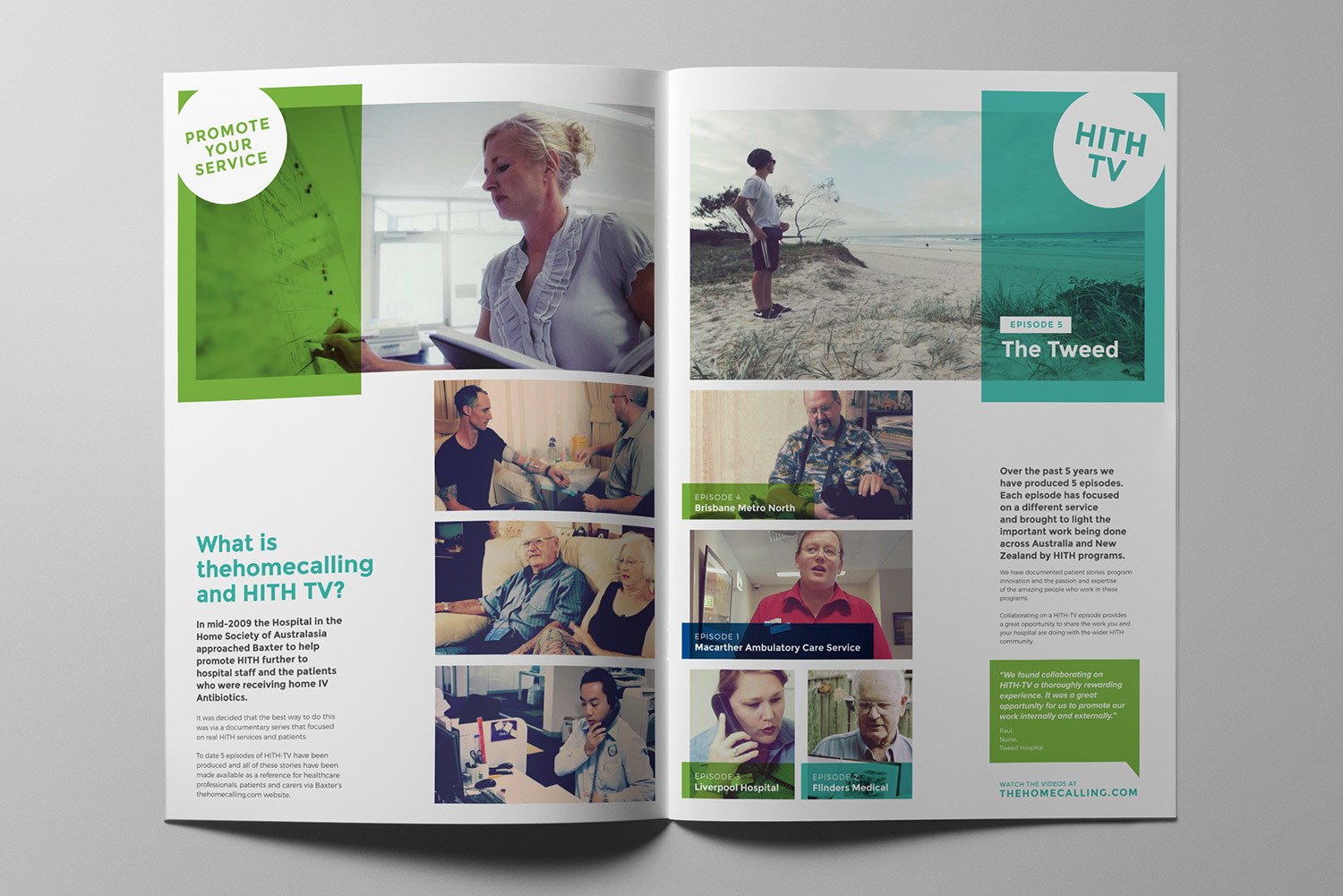 The Home Calling HITH TV Promotional Brochure