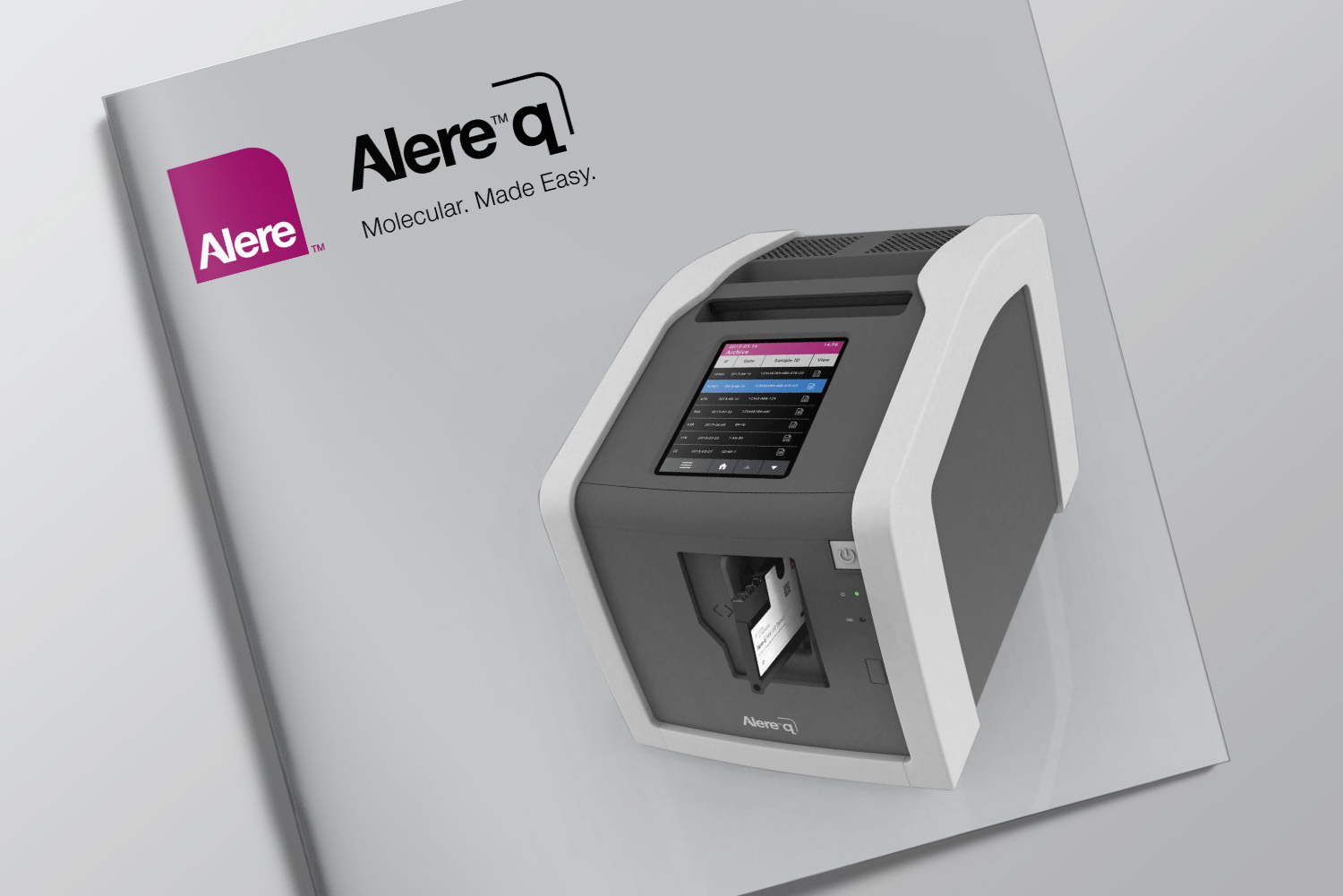 Alere™ q product launch brochure