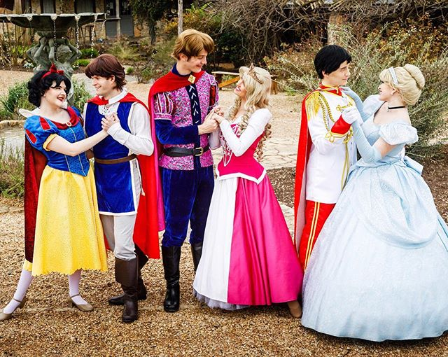 It was a happily ever after kind of day 💘 #princessparty #partyprincess #valentinesday #austinprincessparty #partyentertainment #princessperformer #facecharacter #disneyprincess #disneycosplay #couplecosplay #snowwhite #princephillip #princesscharming #cinderella #sleepingbeauty #princessaurora #princesscosplay #photoshoot #valentines #onset #models #austin #manchaca #sanantonio #newbraunfelskids
