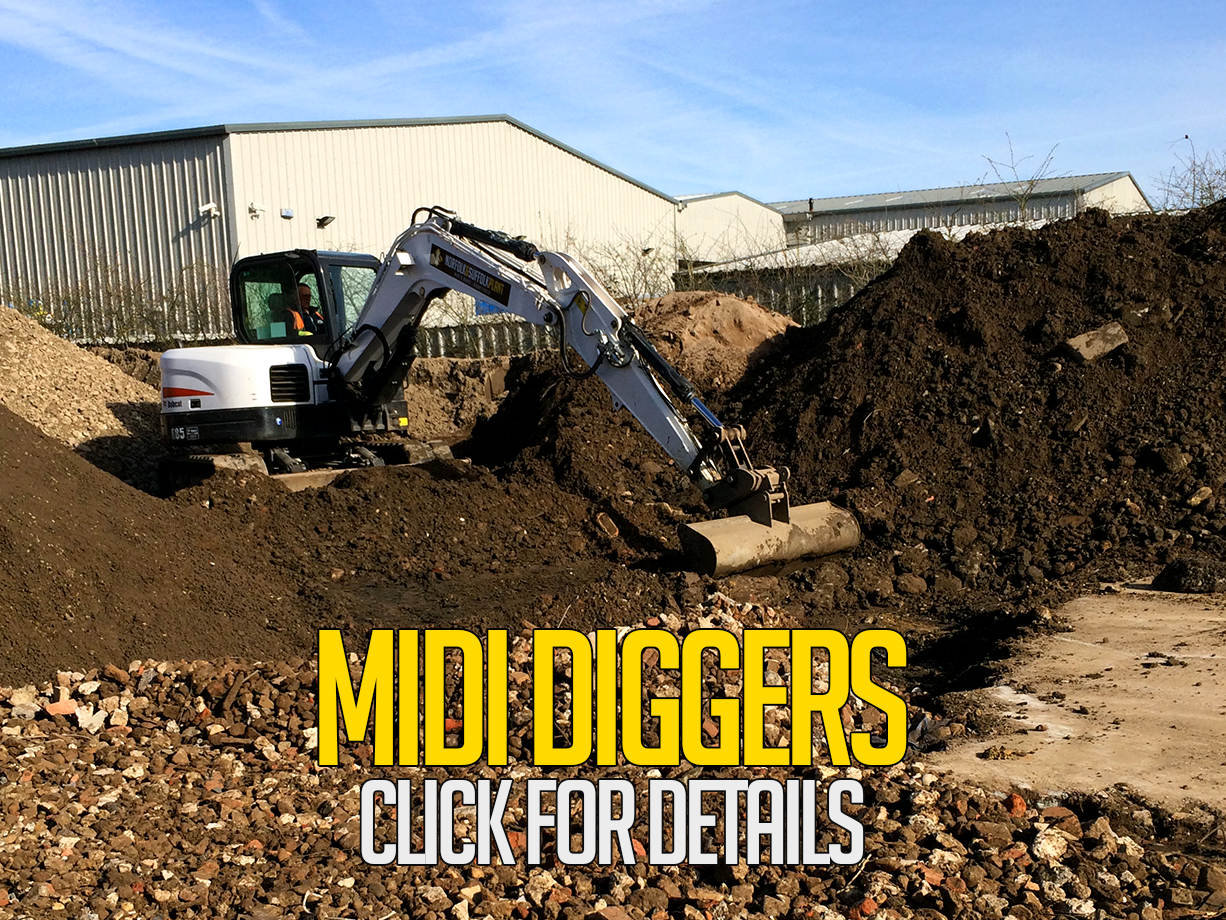 midi diggers for hire