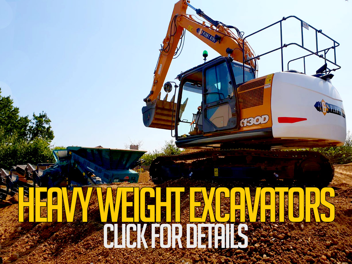 heavy weight excavators for hire