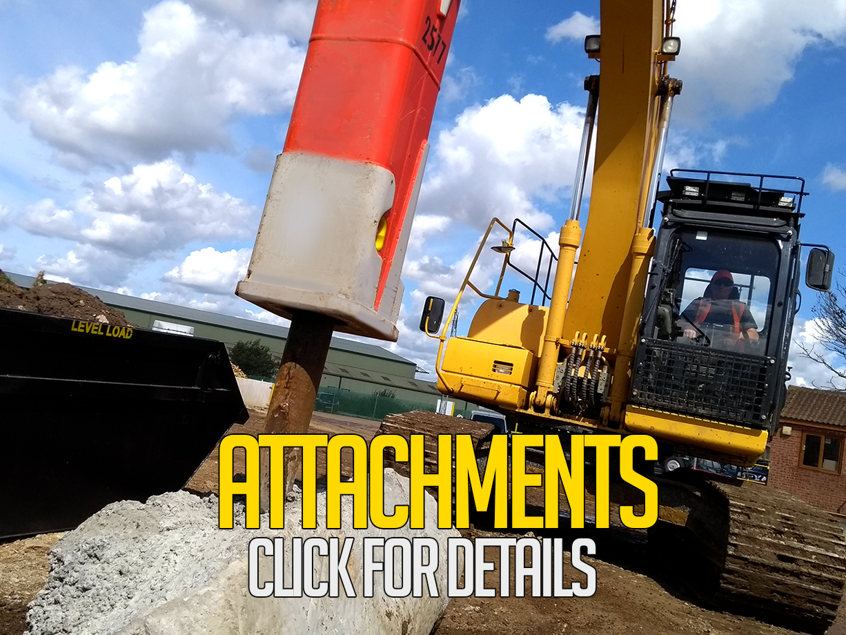 construction vehicle attachments for hire