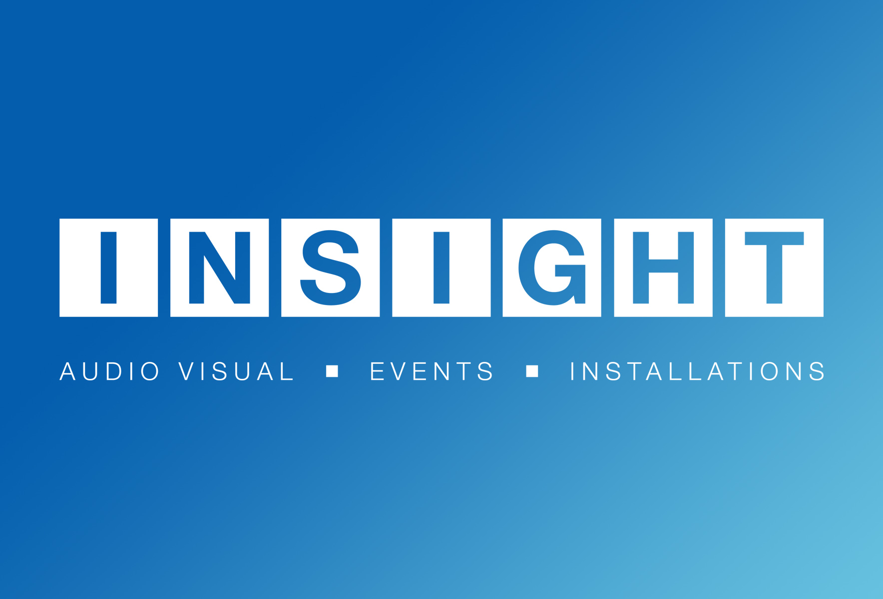 A new company logo and strapline for insight.