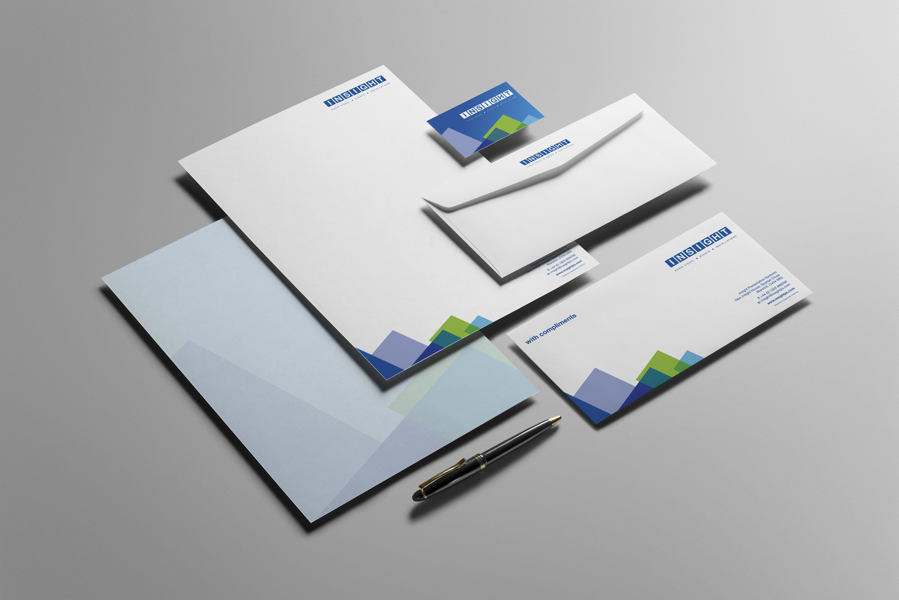 Corporate stationery design by Create Onsight for our client Insight.