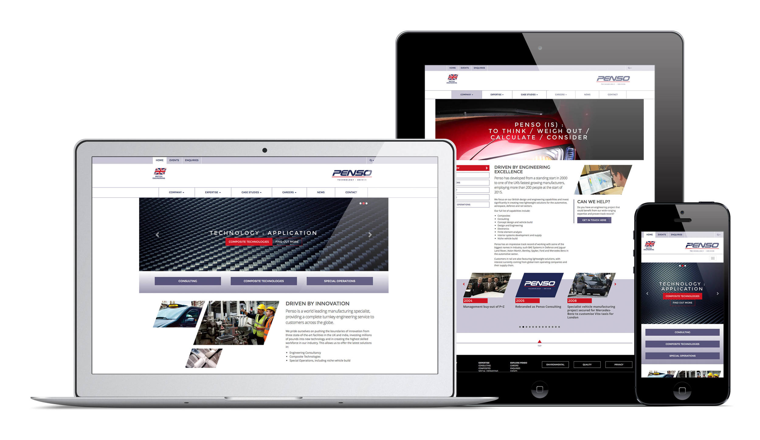 Penso new brand and website design by Create Onsight.