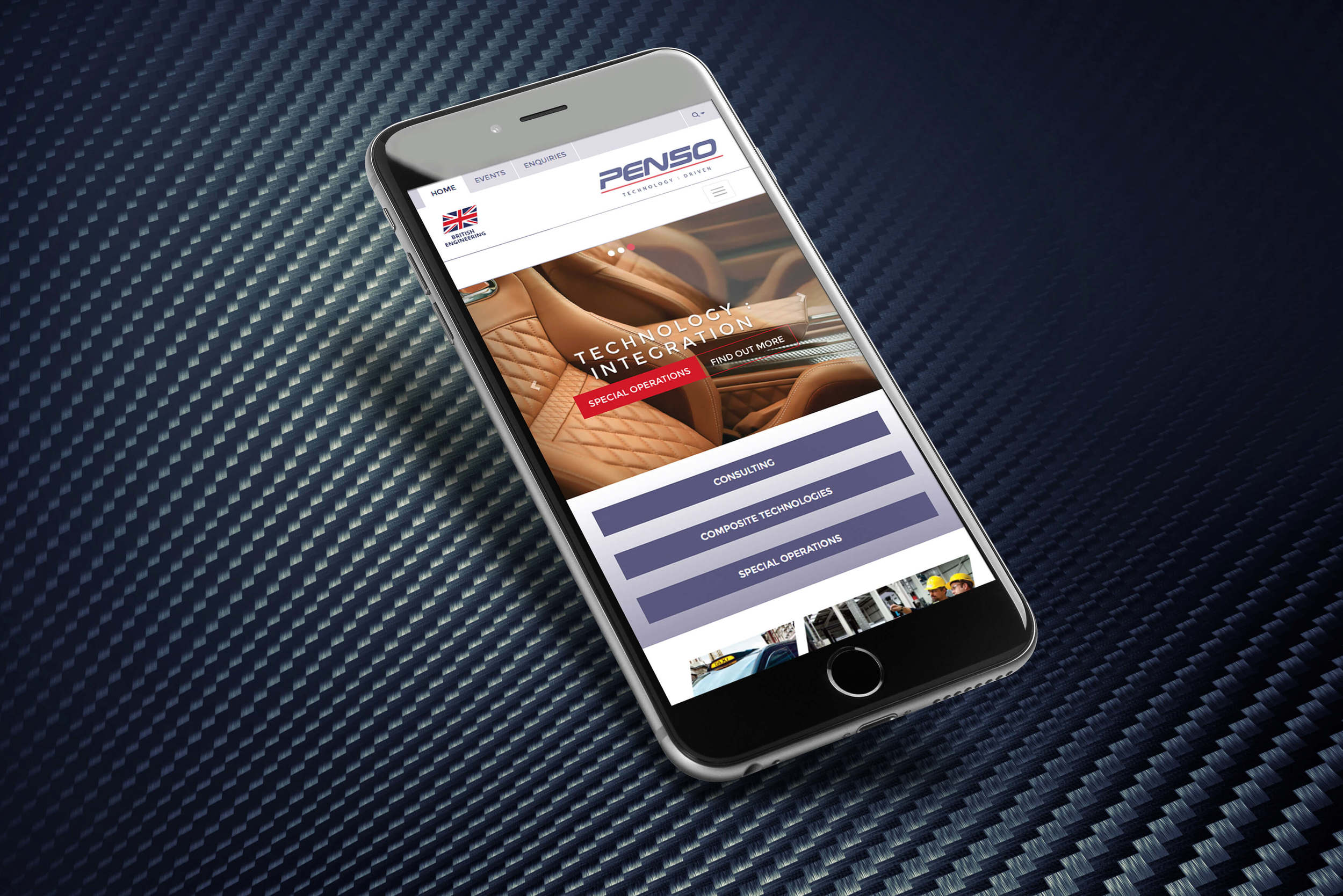A new responsive website design By Create Onsight for Penso, Coventry.