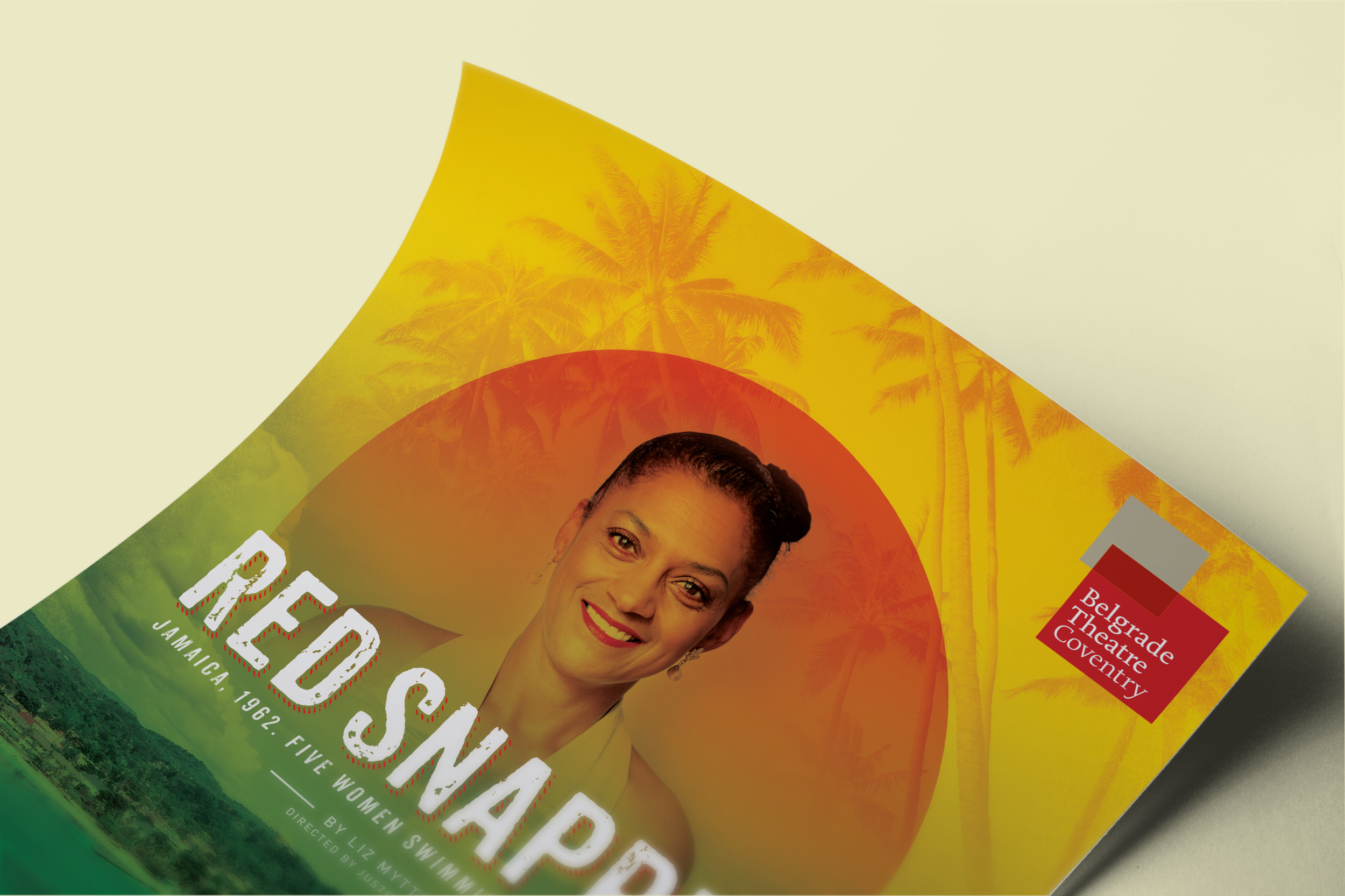 Red Snapper show artwork on a leaflet by Create Onsight