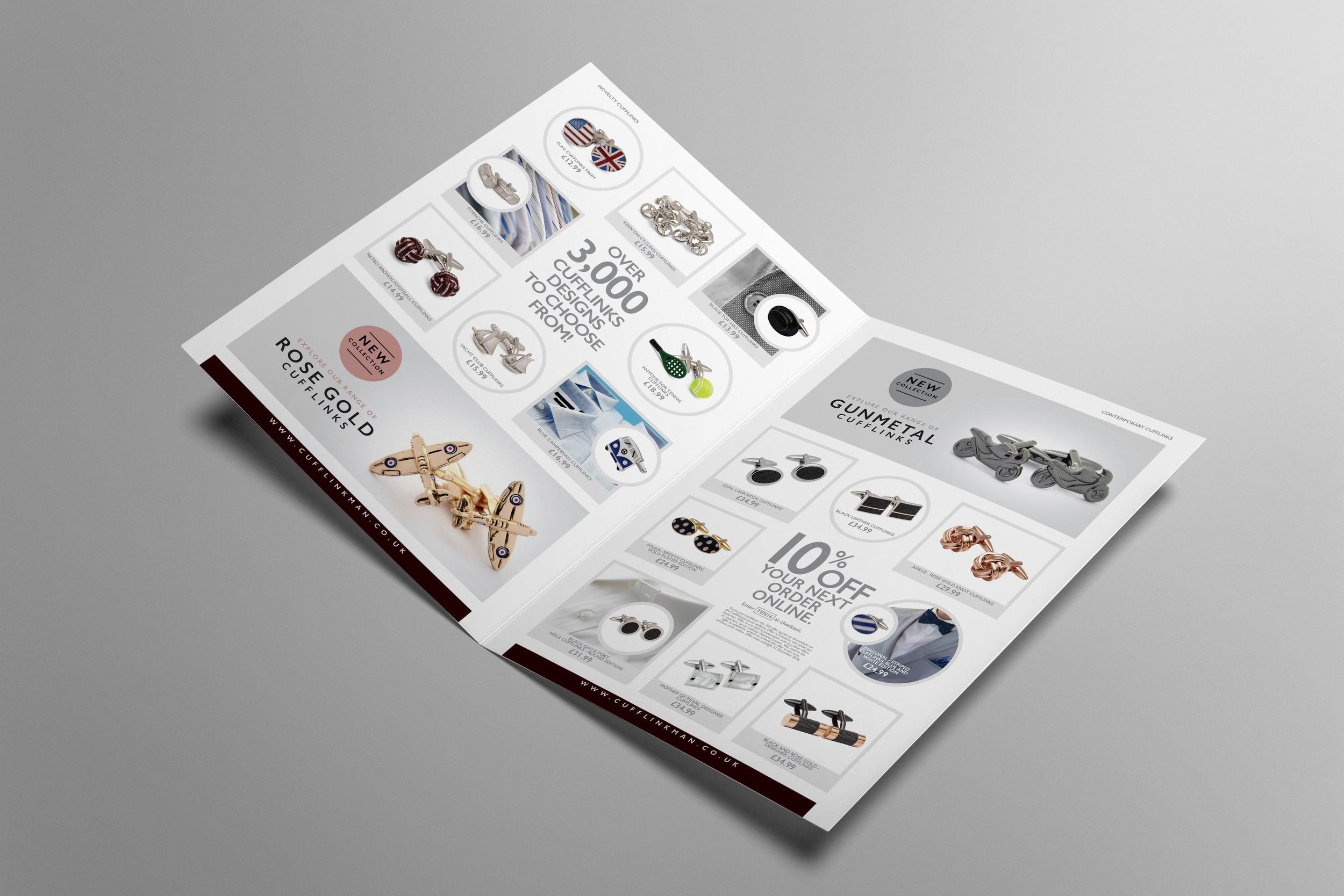 Graphic design for Cufflinkman.com