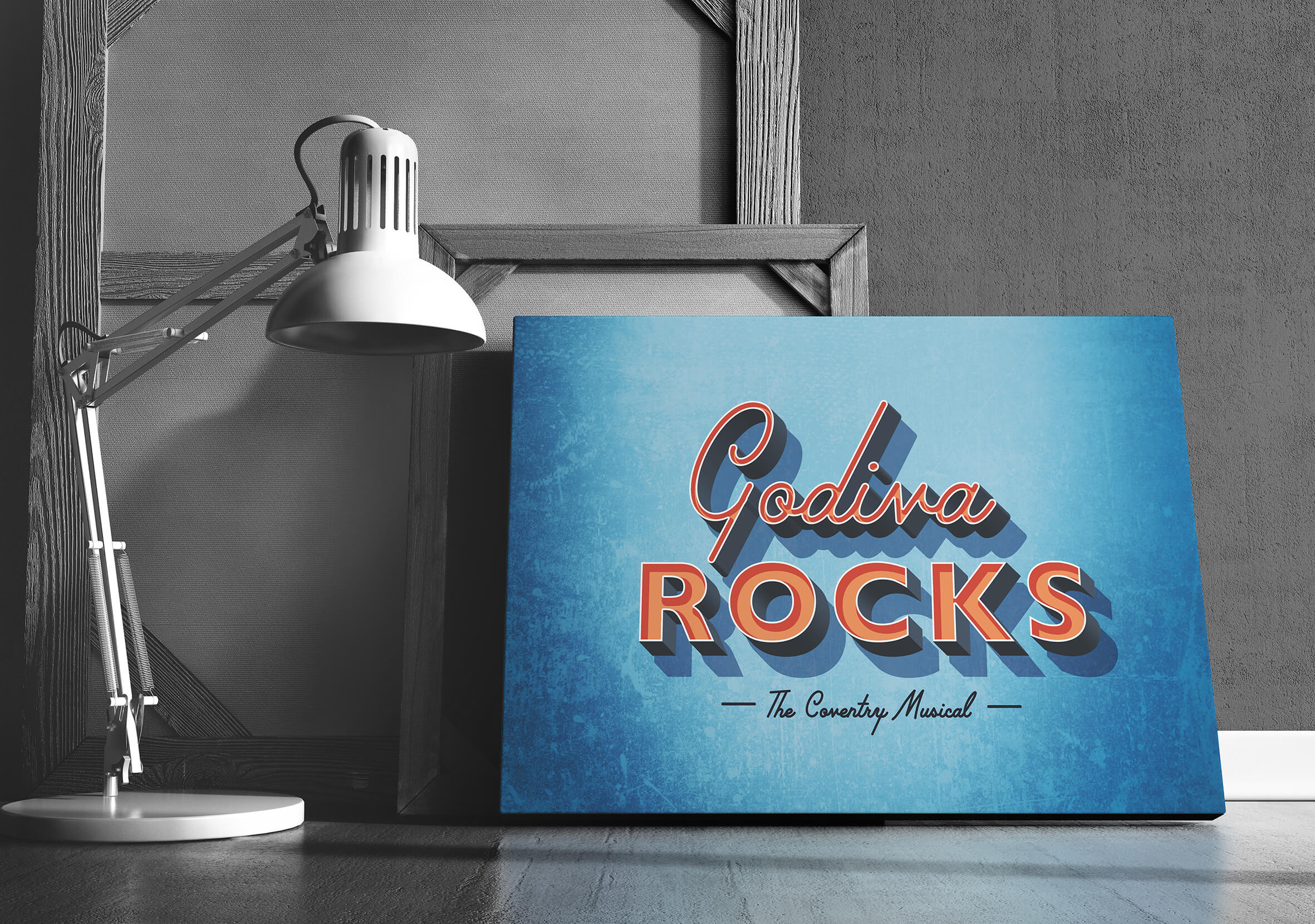 Title treatment design based on the look and feel of a 1960's diner
